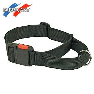 Halsband mit Griff 40mm schwarz