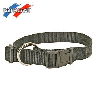 Halsband Nylon Schwarz 30/45 cm