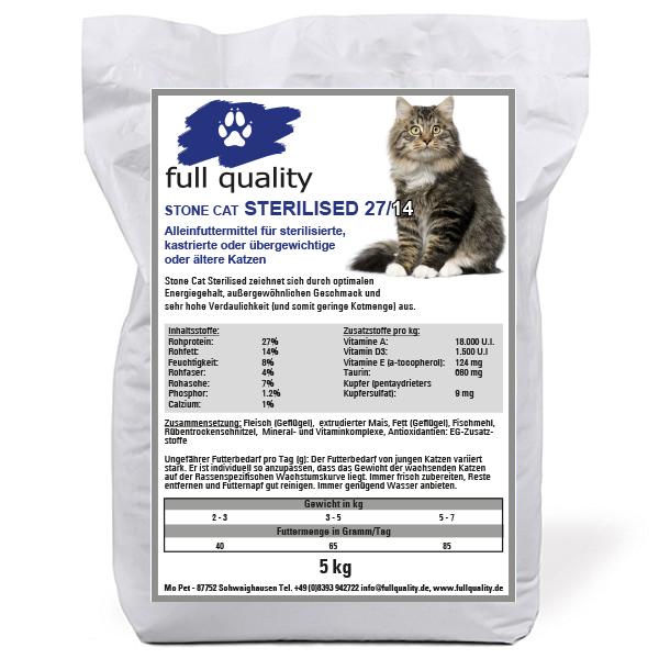 Stone Cat Sterilised 27/14 - 5 kg