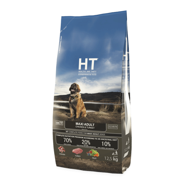 HT MAXI Adult Chicken & Turkey 12,5 kg
