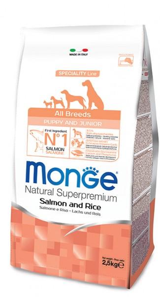 Monge All Breeds Puppy&Junior Lachs&Reis
