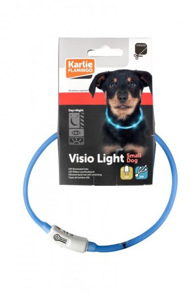 Visio Light LED Hunde Leuchthalsband blau