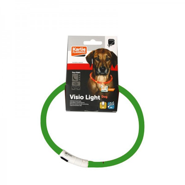 Visio Light LED Hunde Leuchthalsband grün